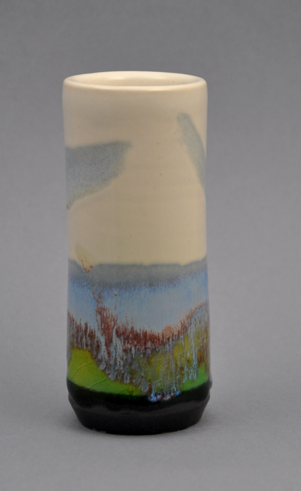 bluegreencream windowsill vase