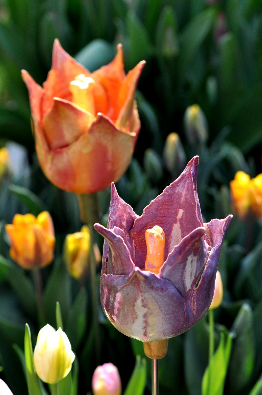 ceramic tulips